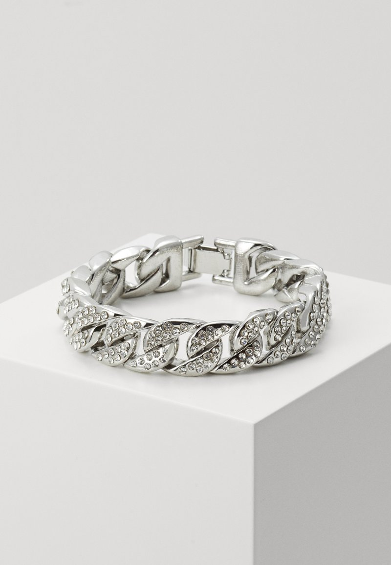 Urban Classics - BIG BRACELET WITH STONES - Bracelet - silver-coloured