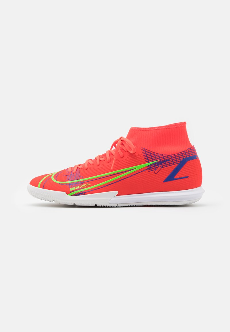 Nike Performance - MERCURIAL 8 ACADEMY IC - Indoor football boots - bright crimson/metallic silver
