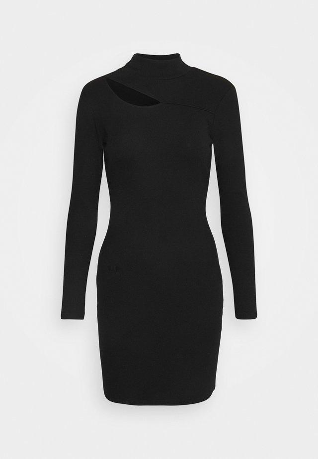 CUT OUT DRESS - Jersey dress - black