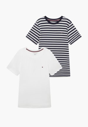 TEE STRIPE 2 PACK - Camiseta interior - blue