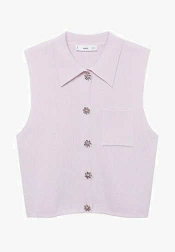 BROTO - Button-down blouse - violet clair pastel