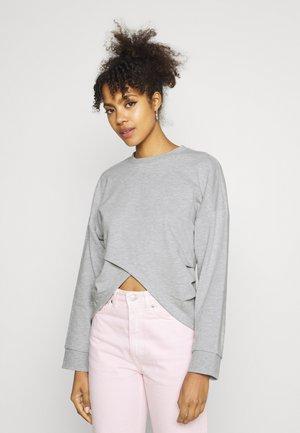 WRAP FRONT - Bluza - mottled light grey
