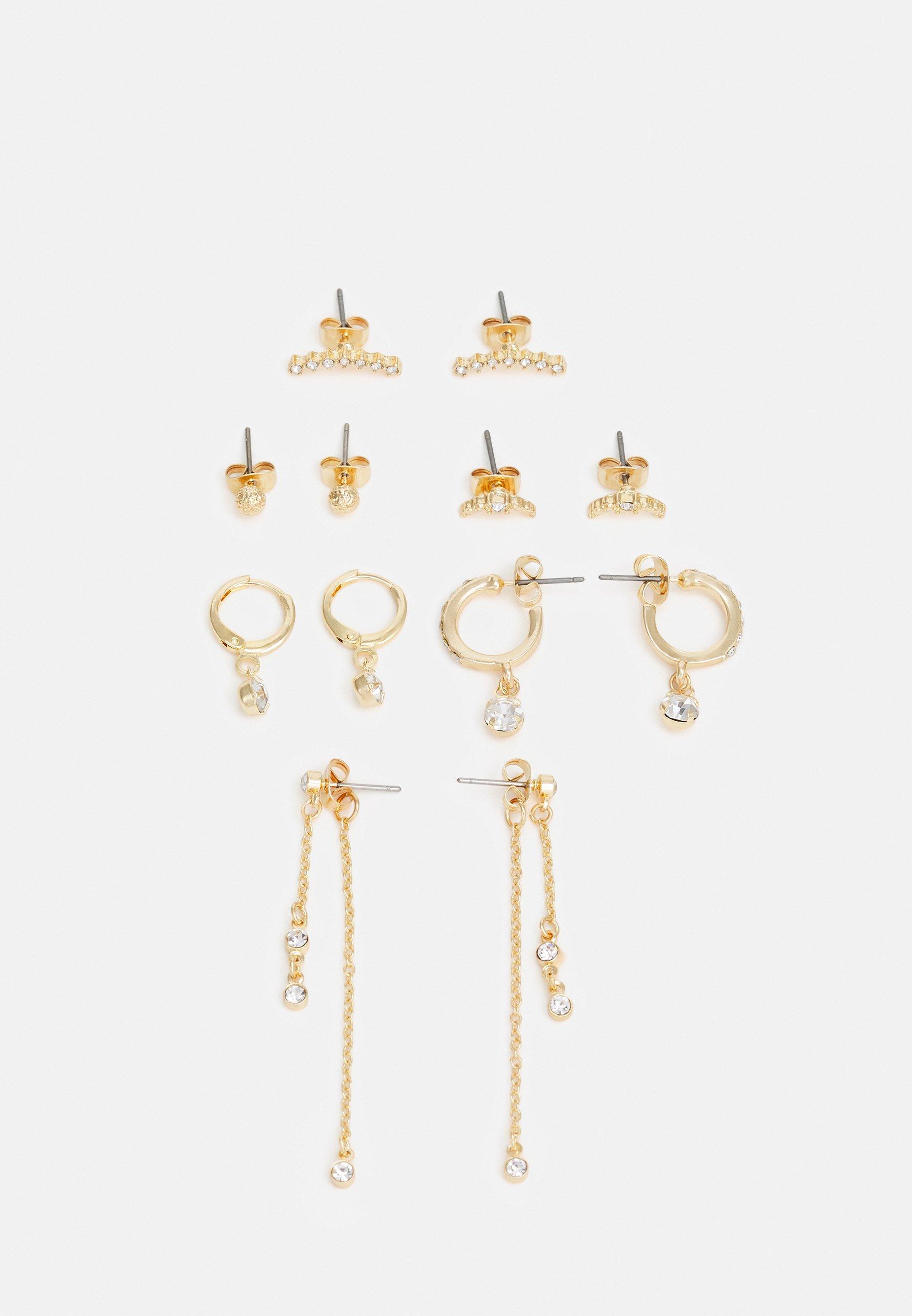 Women PCWILLINA EARRINGS 6 PACK - Earrings