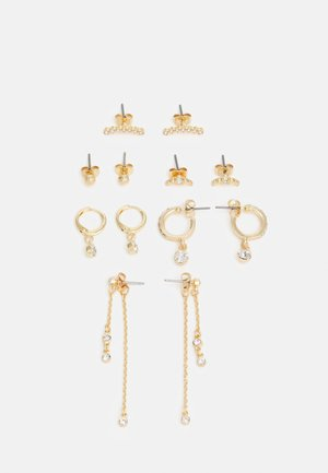 PCWILLINA EARRINGS 6 PACK - Oorbellen - gold-coloured