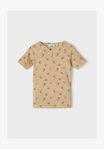 Print T-shirt - semolina