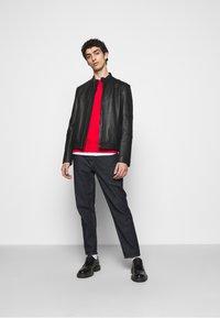 HUGO - LONOS - Leather jacket - black - 1