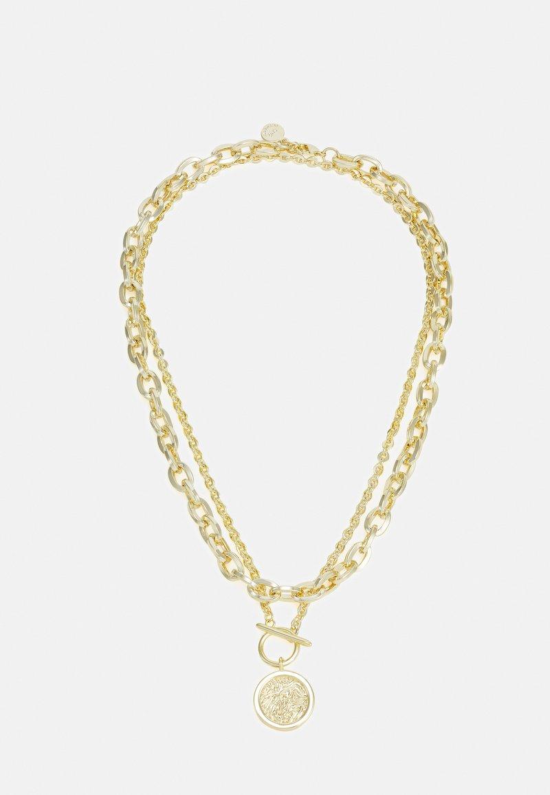 SNÖ of Sweden - DAY BIG NECK PLAIN 2 PACK - Necklace - gold-coloured
