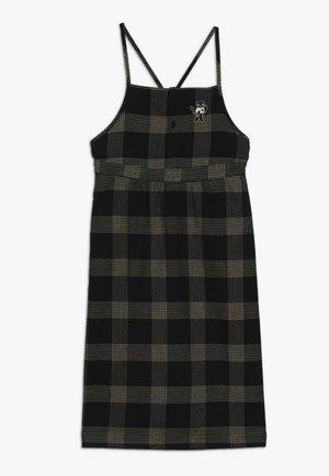 CHECK CAT DRESS - Denní šaty - black/sand