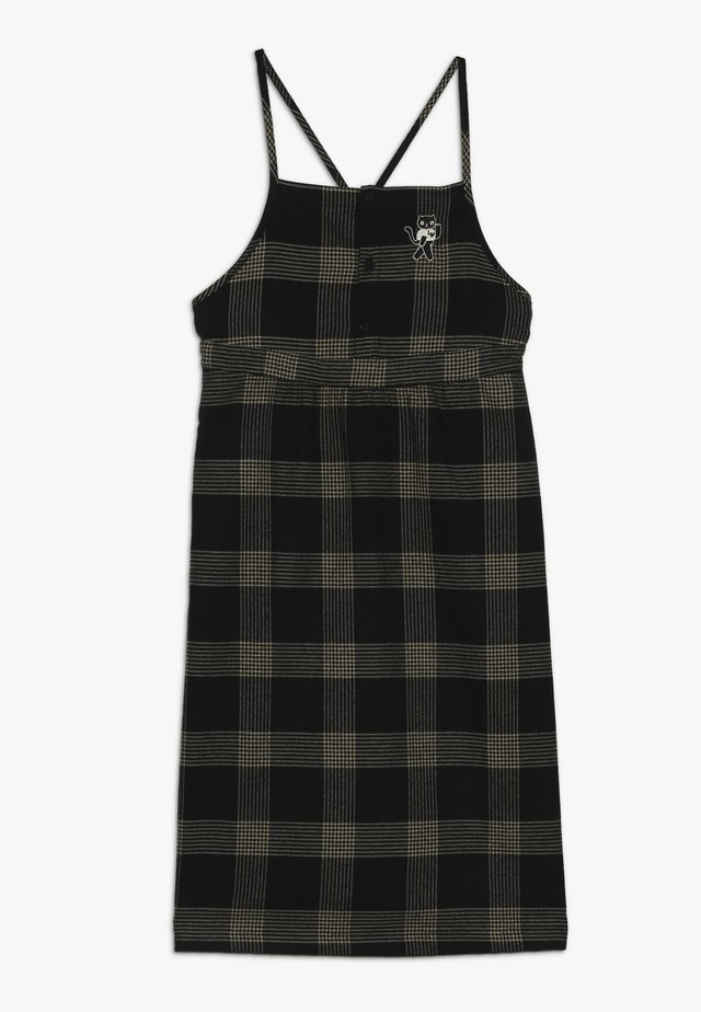 CHECK CAT DRESS - Kjole - black/sand