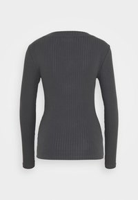 Even&Odd Tall - BASIC CREW NECK LONG SLEEVES - Long sleeved top - anthracite - 1