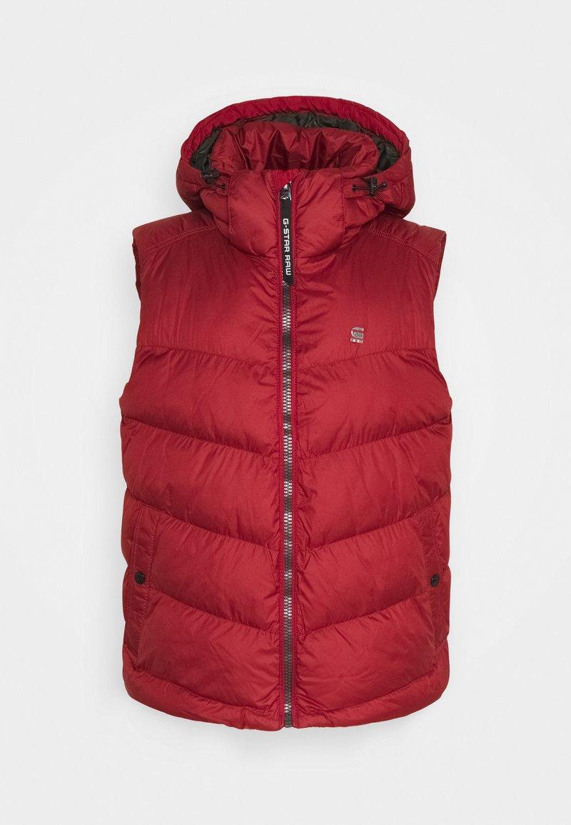 G-Star - WHISTLER VEST - Waistcoat - dry red