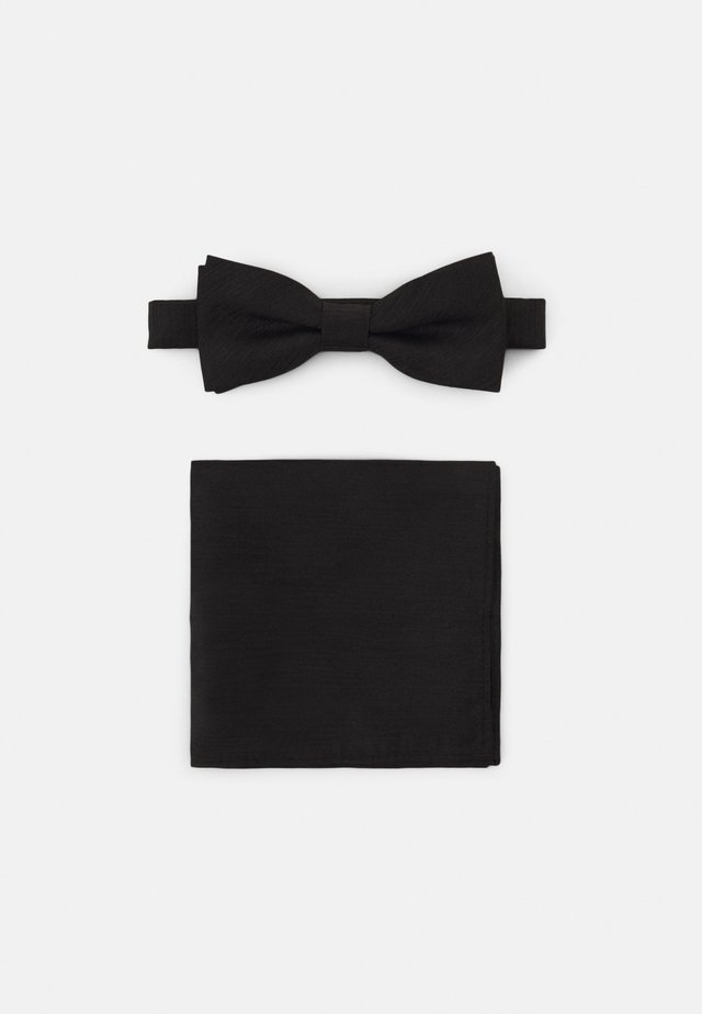 ONSTANNER BOW TIE BOX SET - Lommetørkle - black