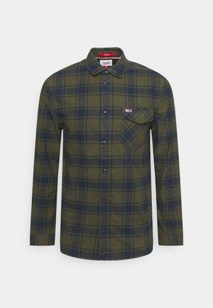 PLAID SHIRT - Skjorta - dark olive