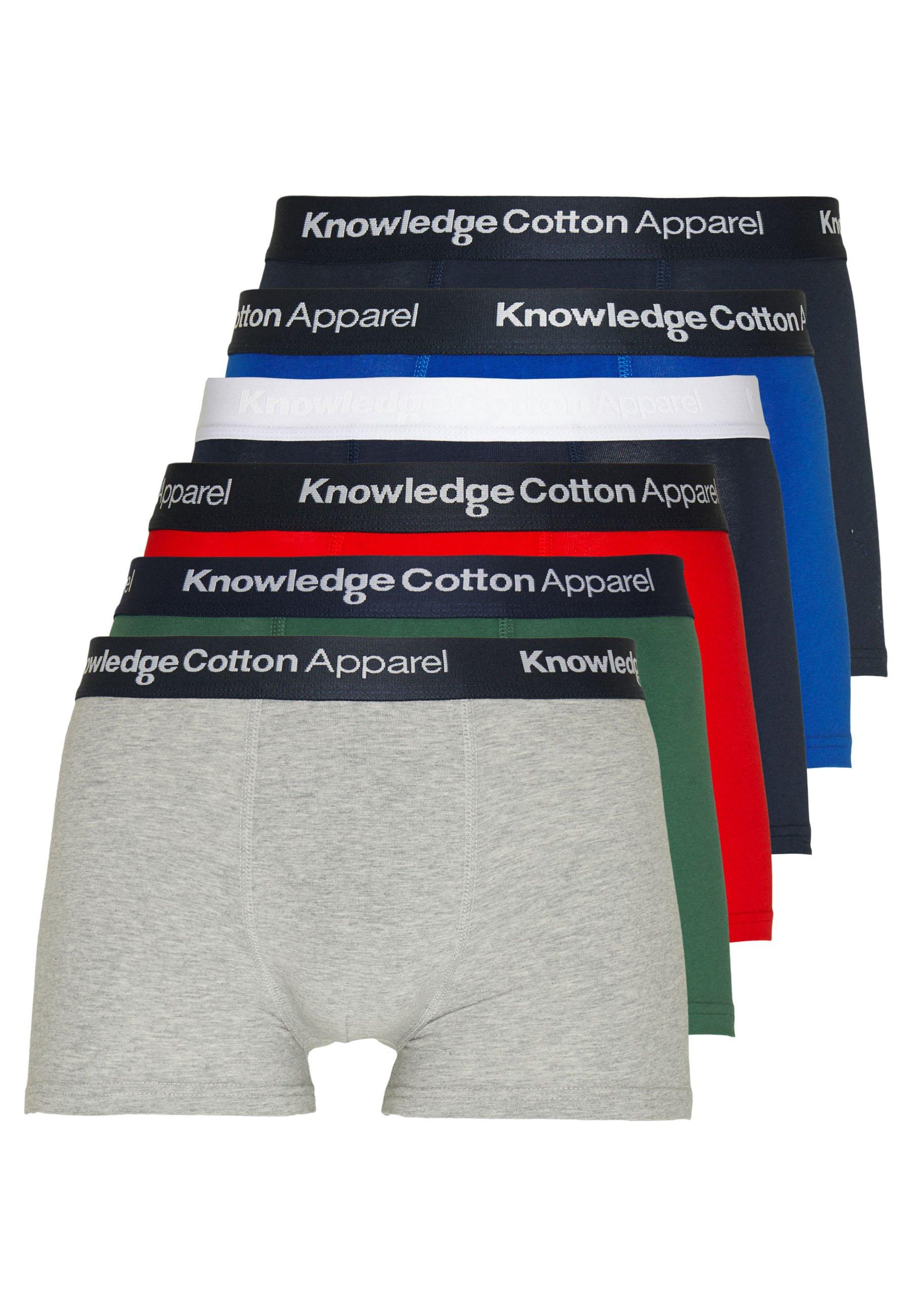 Knowledge Cotton Apparel MAPLE UNDERWEAR 6 PACK - Underbukse - black/black/grey heather/green/red/blue
