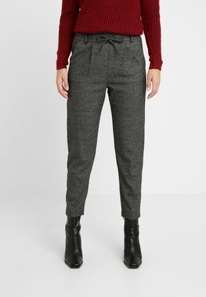 ONLPOPTRASH SOFT CHECK PANT - Pantaloni - black/cloud dancer