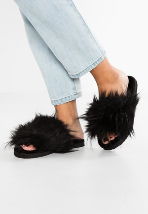 HAIRY POOL - Pantofole - black