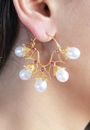 Earrings - red