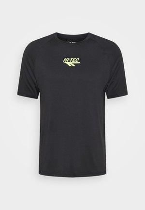 THOMAS BASIC LOGO TEE - Print T-shirt - black