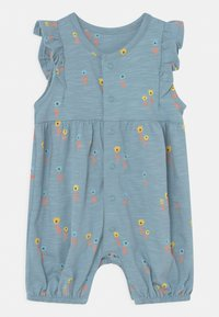 Marks & Spencer London - BABY FLORAL ROMPER 2 PACK - Overall / Jumpsuit /Buksedragter - light blue - 2