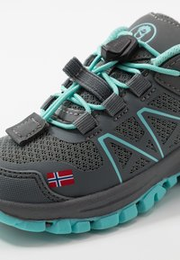TrollKids - KIDS SANDEFJORD LOW UNISEX - Hiking shoes - anthracite/mint - 2