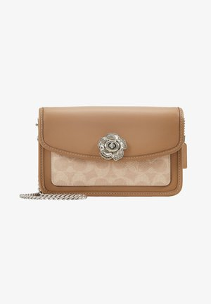 COATED SIGNATURE PARKER CROSSBODY - Across body bag - sand/taupe