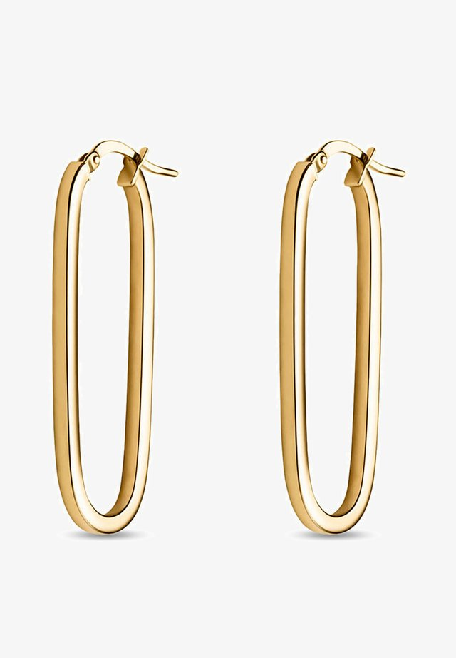 DAMEN-CREOLEN 375ER - Earrings - gelbgold