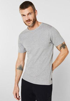 RIPP-SHIRT AUS BAUMWOLL-MIX - Basic T-shirt - medium grey