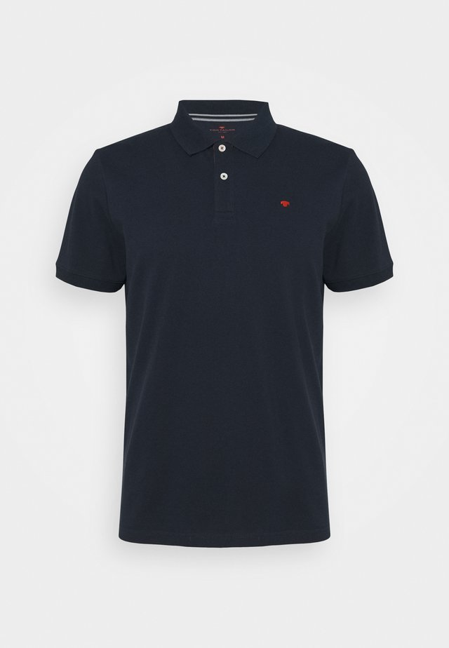 WITH CONTRAST - Polo shirt - dark blue
