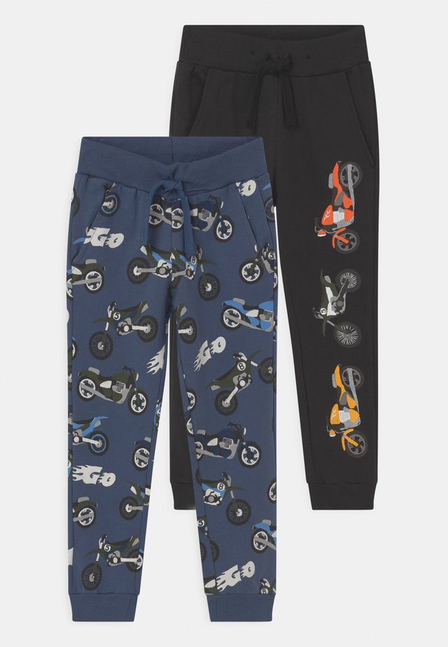 2 PACK - Pantaloni sportivi - dark dusty blue