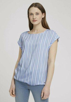 Blouse - light blue vertical stripe