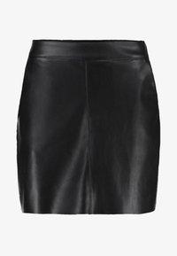 VMYOURS BUTTER SHORT SKIRT - Mini skirt - black