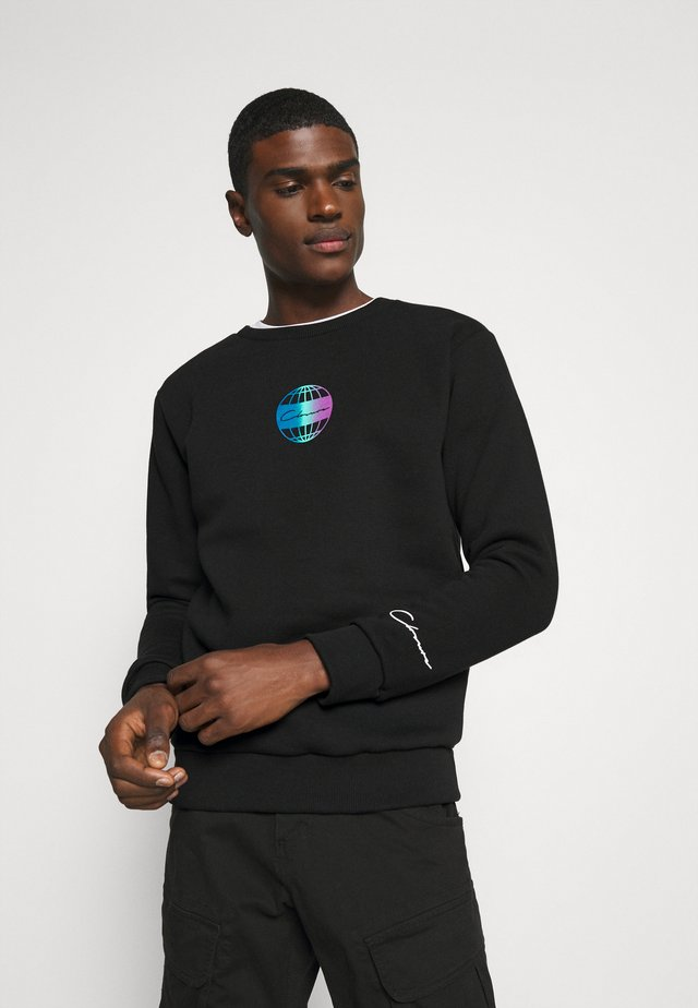 GLOBAL CREWNECK - Collegepaita - black