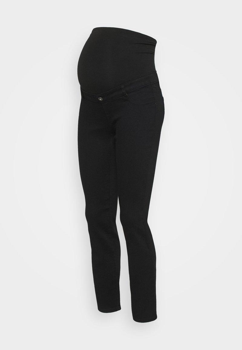 Dorothy Perkins Maternity - OVERBUMP ELLIS  - Vaqueros slim fit - black