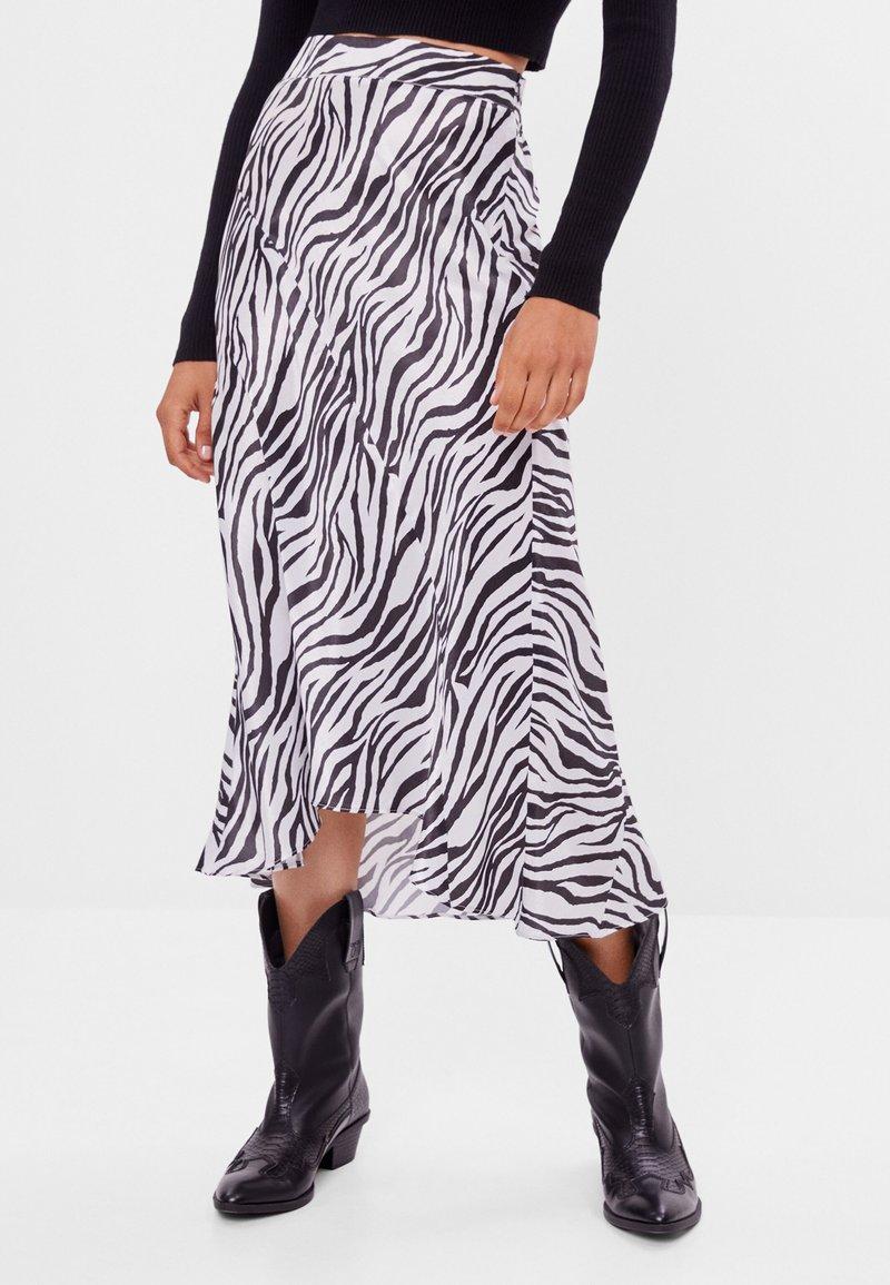Bershka - Wrap skirt - black
