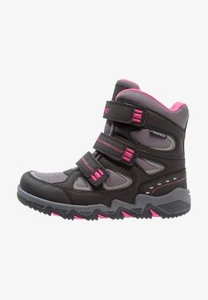 THUNDER WP  - Hiking shoes - dark grey/black/fuschia
