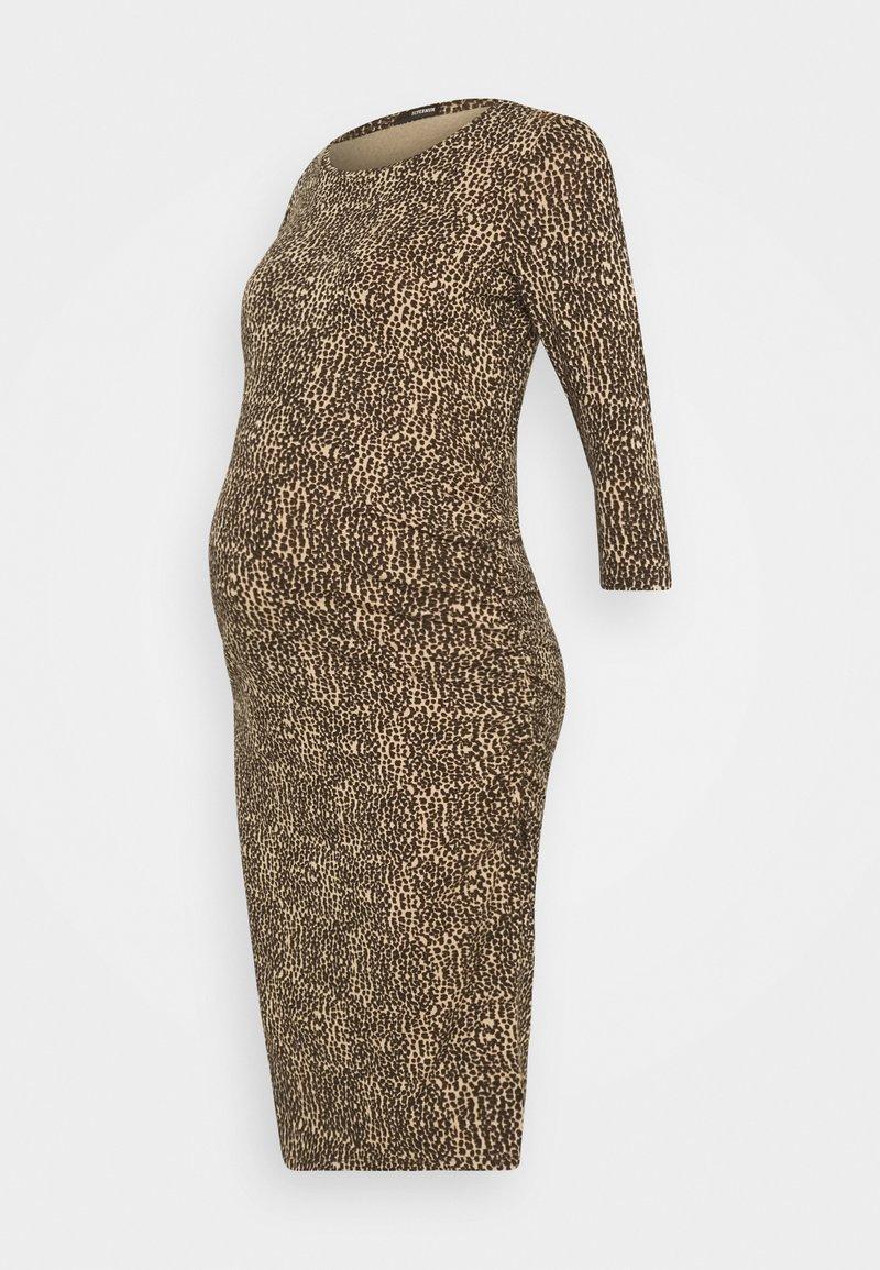 Supermom - DRESS ANIMAL - Žerzejové šaty - brown
