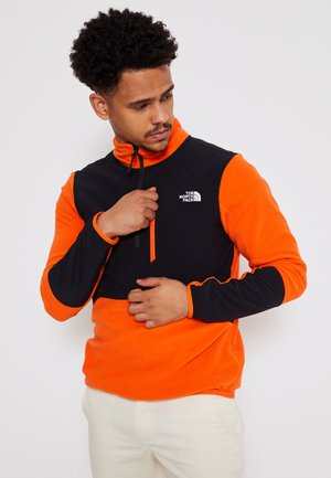 GLACIER PRO 1/4 ZIP  - Fleece jumper - flame/black