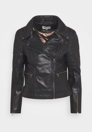CARNIE JACKET - Faux leather jacket - pitch black
