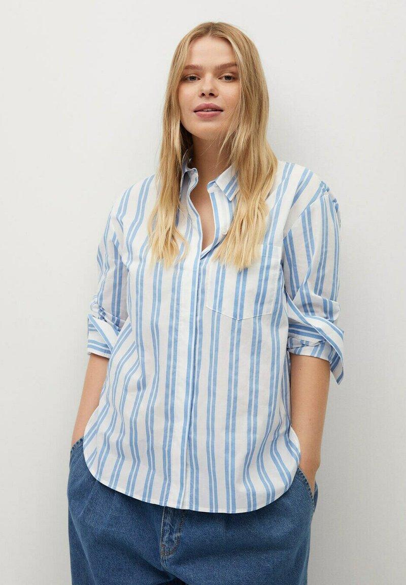 Violeta by Mango - PEDRO8 - Button-down blouse - light blue