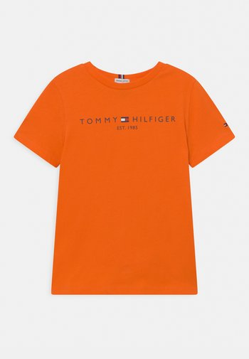 ESSENTIAL TEE UNISEX - Print T-shirt - magnetic orange