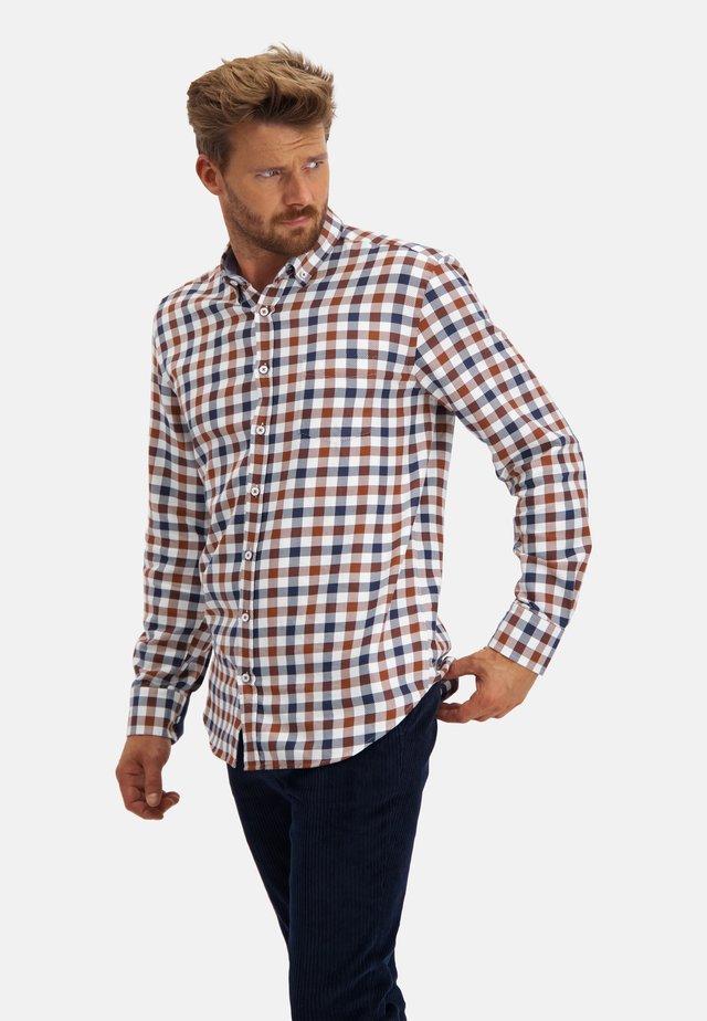 CHECKED - Overhemd - midnight/brick
