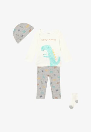 DINO BABY SET - Pantalones - heather