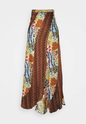 LONG SKIRT - Maxi skirt - sand/powder/wood