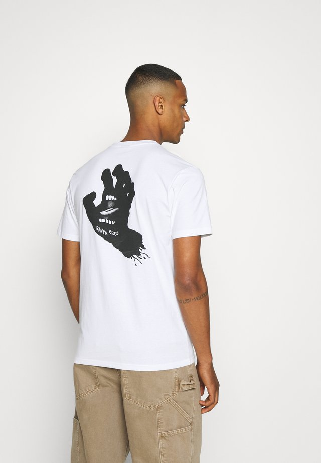UNISEX CONTRA HAND MONO - T-shirts med print - white