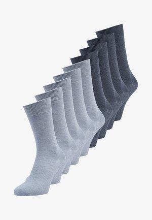 9 PACK UNISEX - Socks - stone melange/jeans