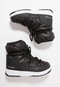 Moon Boot - GIRL LOW WP - Botines con cordones - black - 0