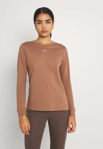 TEE - Camiseta de manga larga - archaeo brown/white