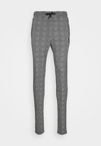 11 DEGREES - PRINCE OF WALES JOGGER - Tracksuit bottoms - black/white - 4