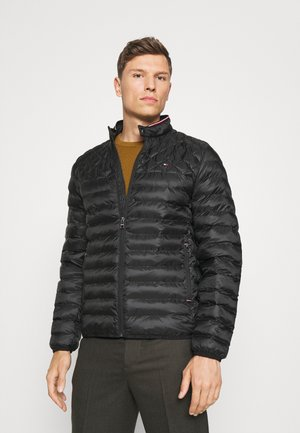 CIRCULAR QUILT MIX JACKET - Light jacket - black
