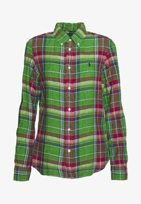 GEORGIA CLASSIC LONG SLEEVE - Camisa - green/orange